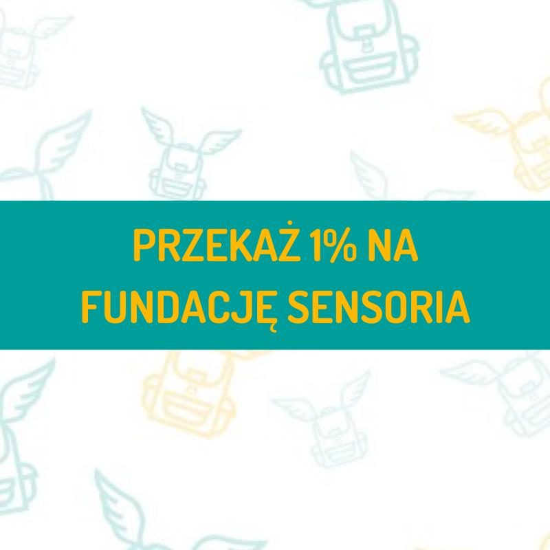 Przekaż 1% podatku na Fundację Sensoria